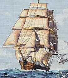 Clipper Under Sail