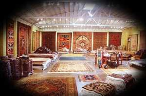 A store filled with precious Oriental rugs