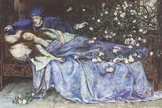 Sleeping Beauty by Henry Meynell Rheam