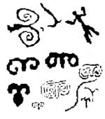 ancient symbol carvings