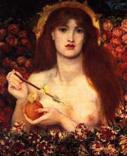 Rossetti's Venus. Click for more on Venus Conjunction 2004
